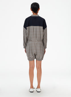 Sana Check Bloomer Jumper Blue Check Multi-3