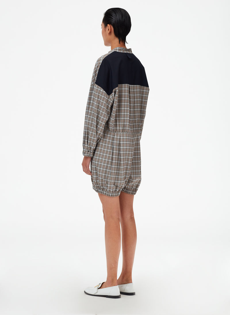 Sana Check Bloomer Jumper Blue Check Multi-4