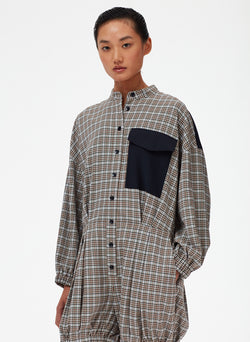 Sana Check Bloomer Jumper Blue Check Multi-5