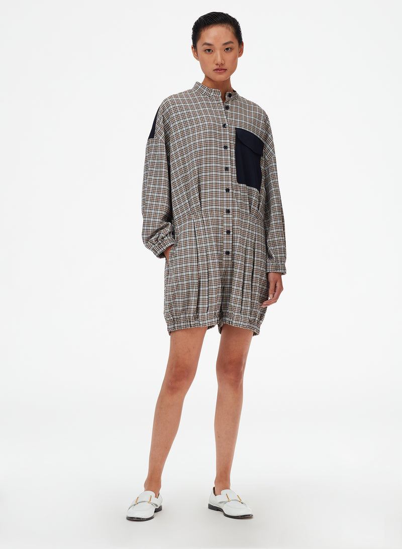 Sana Check Bloomer Jumper Blue Check Multi-6