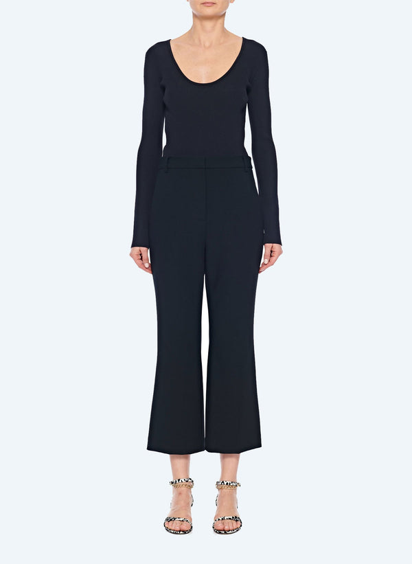 티비 크롭 부츠컷 바지 Tibi Anson Stretch Cropped Bootcut Pant,Black
