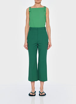 Anson Stretch Cropped Bootcut Pant Leaf Green-9