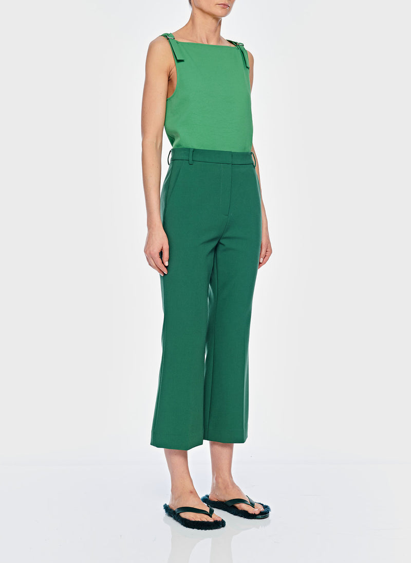 Anson Stretch Cropped Bootcut Pant Leaf Green-11