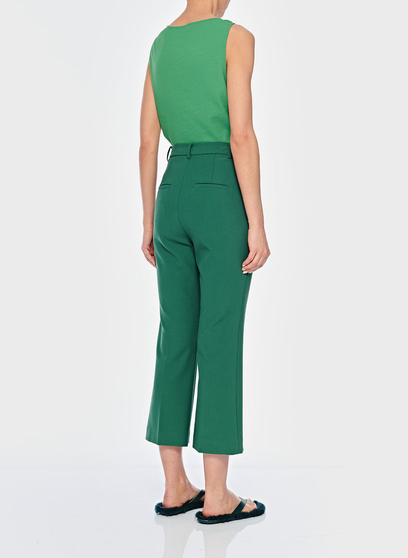 Anson Stretch Cropped Bootcut Pant Leaf Green-12