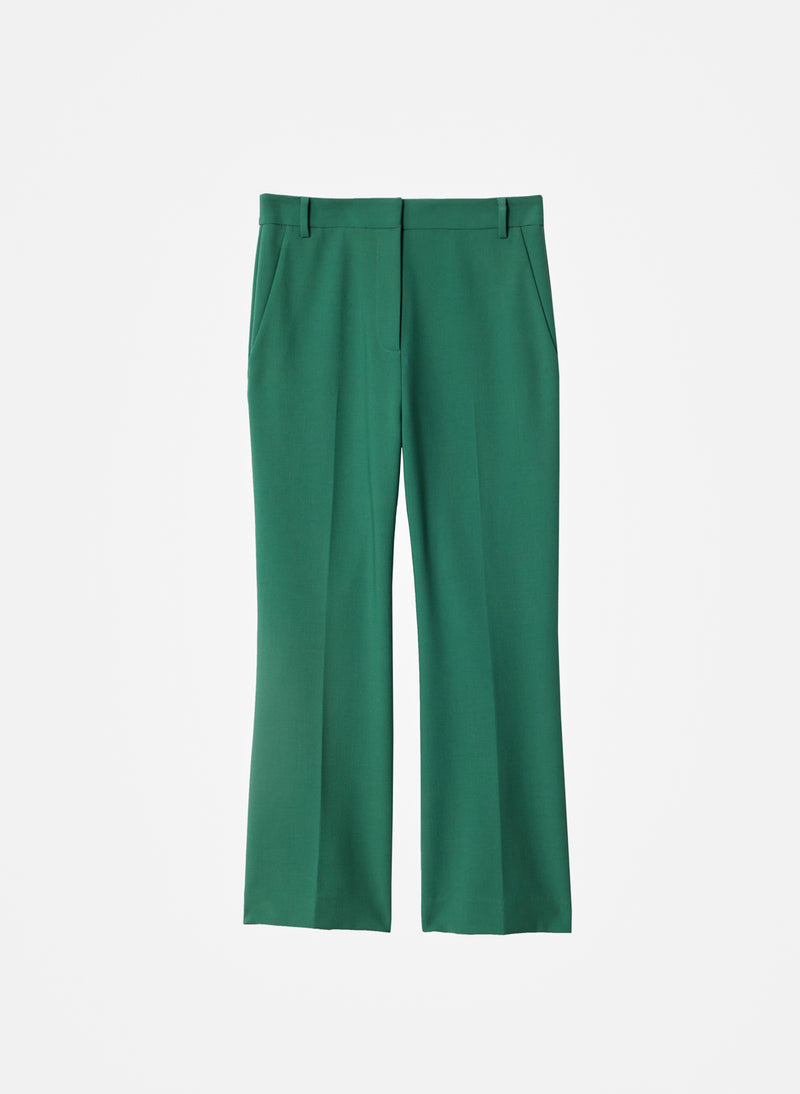 Anson Stretch Cropped Bootcut Pant Leaf Green-14