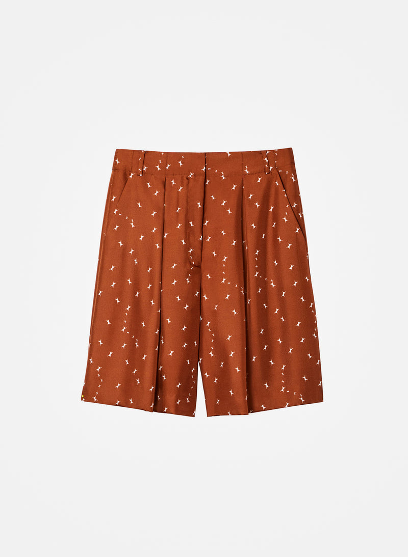 Ant Polka Dot Relaxed Shorts Light Brown/White Multi-2