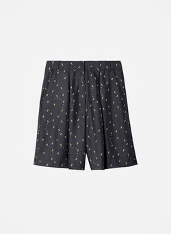 Ant Polka Dot Relaxed Shorts Pearl Black/Caramel Multi-14