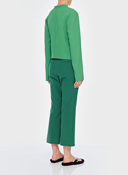 Chalky Drape Draped Blouse Basil Green-11