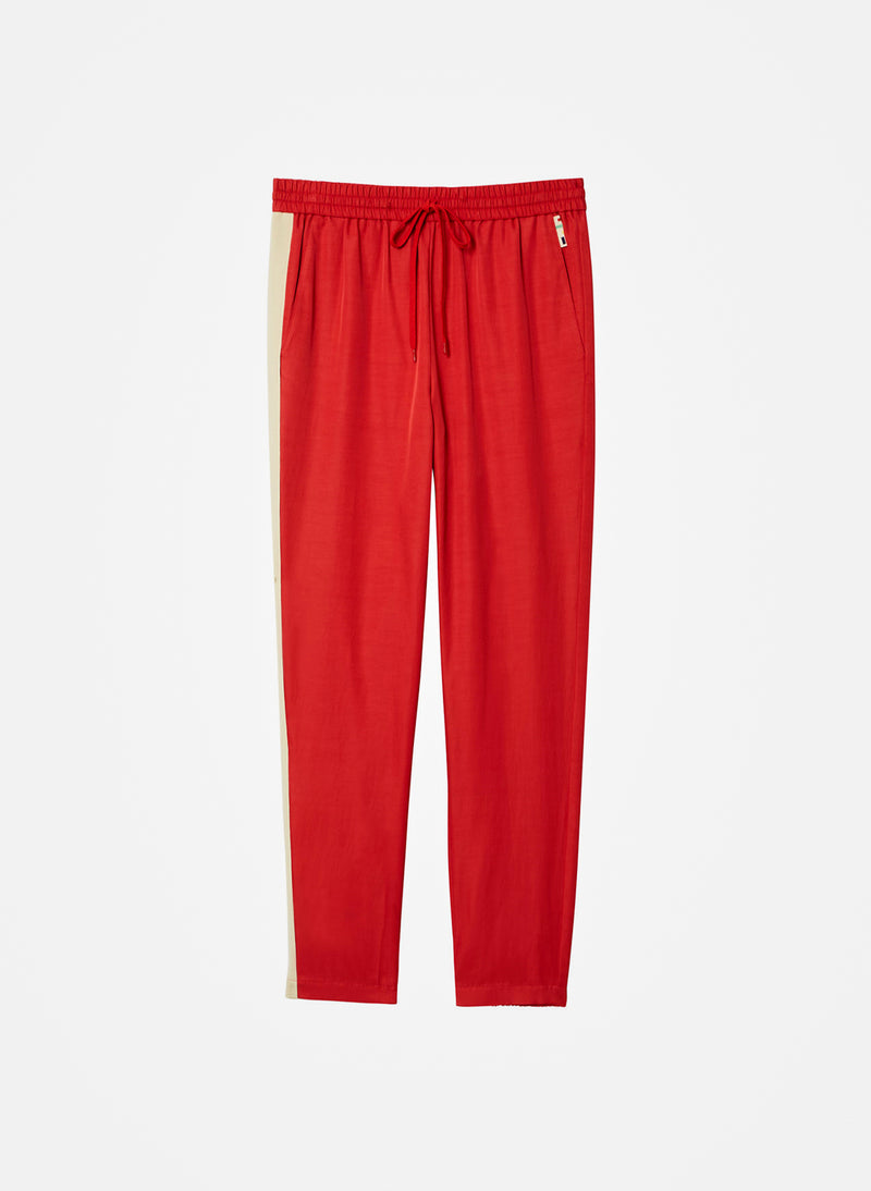 Pull On Pant Washed Red Multi-8