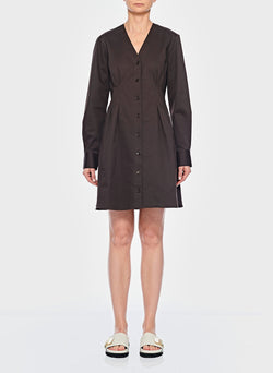 Dominic Twill Shirtdress Brown-6