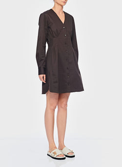 Dominic Twill Shirtdress Brown-7