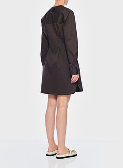 Dominic Twill Shirtdress Brown-9