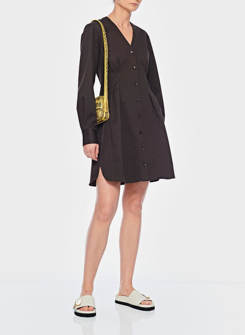 Dominic Twill Shirtdress Brown-8