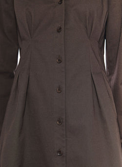 Dominic Twill Shirtdress Brown-10