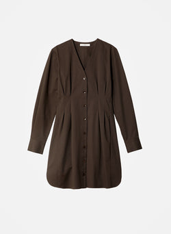 Dominic Twill Shirtdress Brown-11
