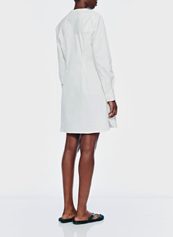 Dominic Twill Shirtdress White-4
