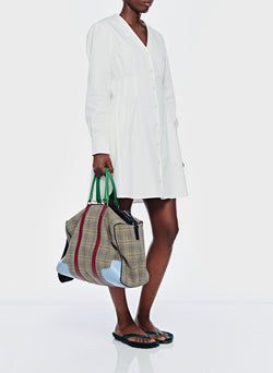 Dominic Twill Shirtdress White-3