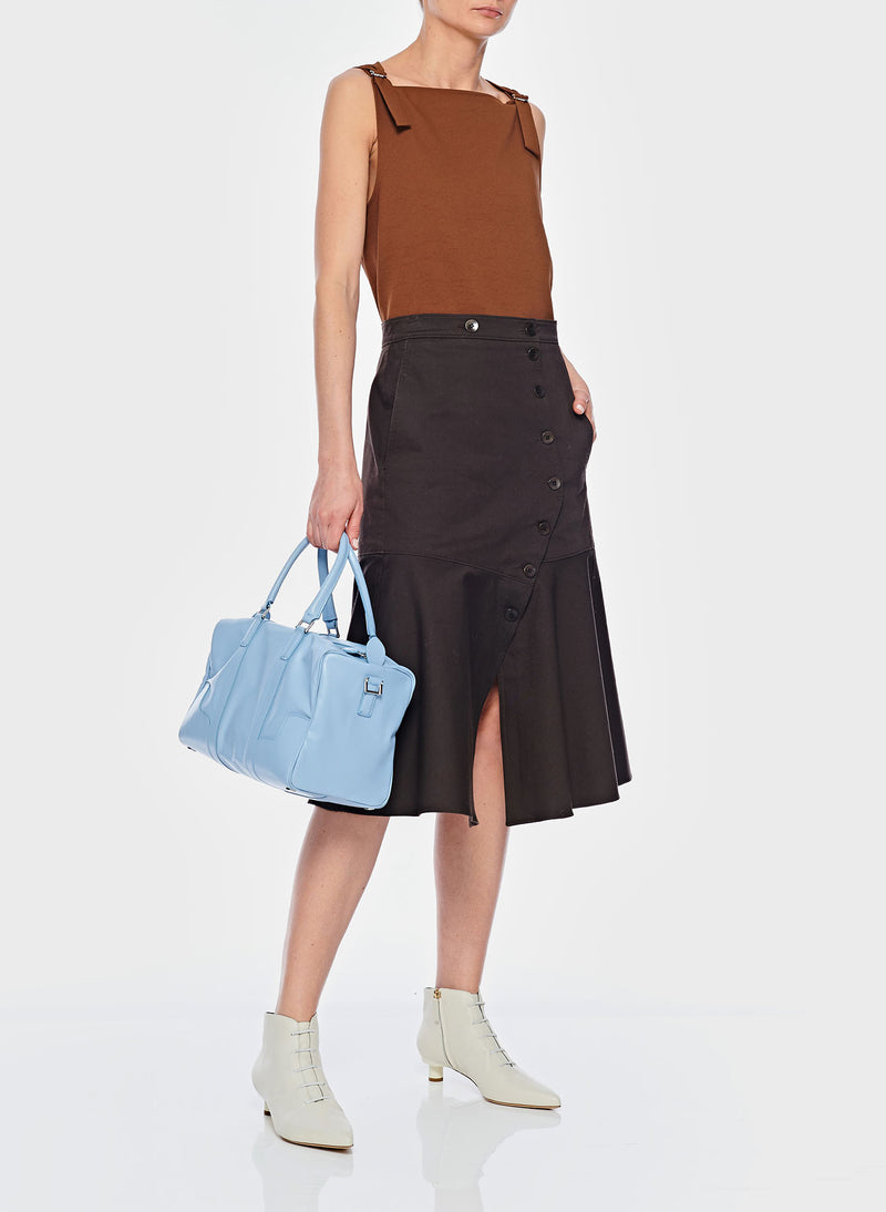 Dominic Twill Skirt Brown-6