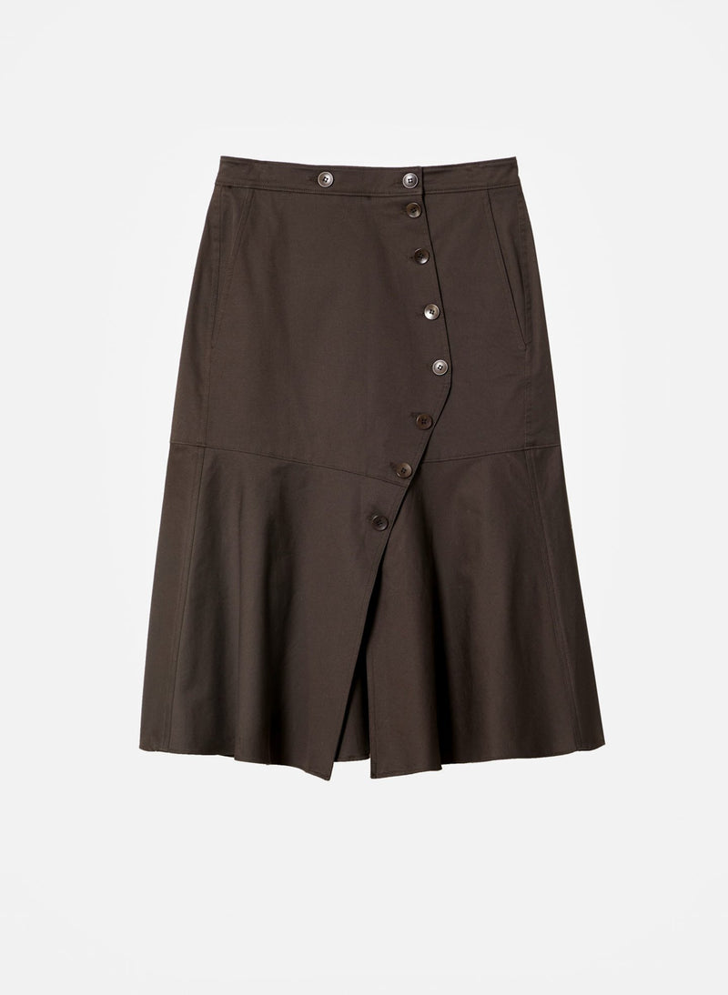 Dominic Twill Skirt Brown-7