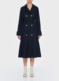 Trench with Removable Quilted Lining Navy-1