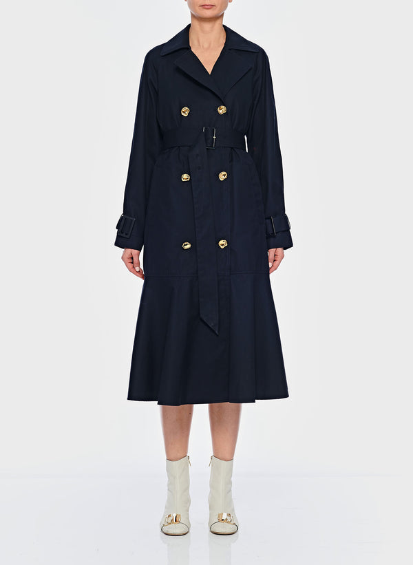 티비 트렌치 코트 Tibi Trench with Removable Quilted Lining,Navy