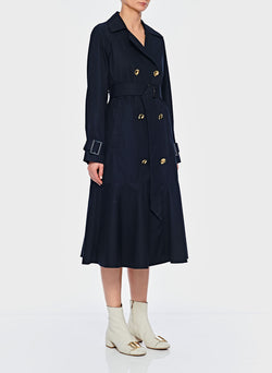 Trench with Removable Quilted Lining Navy-3