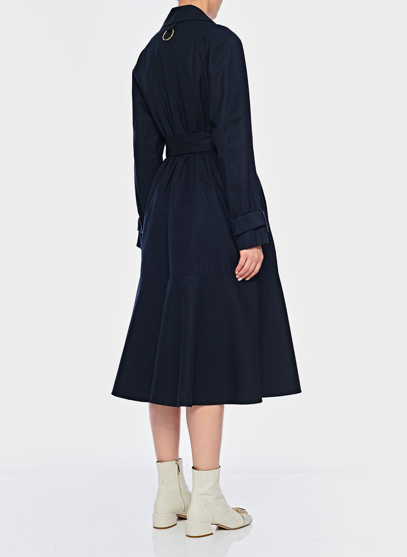 Trench with Removable Quilted Lining Navy-4