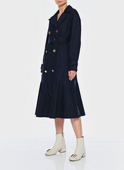Trench with Removable Quilted Lining Navy-5