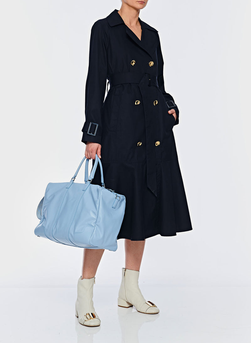 Trench with Removable Quilted Lining Navy-6