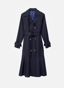 Trench with Removable Quilted Lining Navy-2