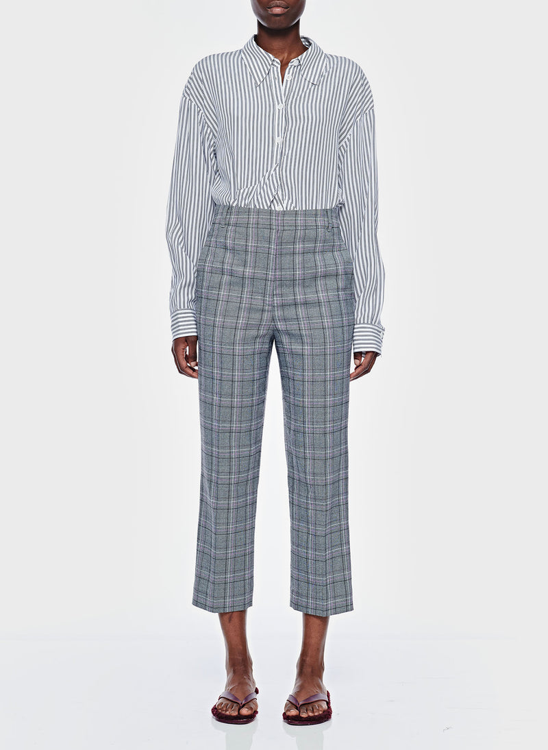 James Menswear Check Taylor Pant Black/Lavender Multi-1