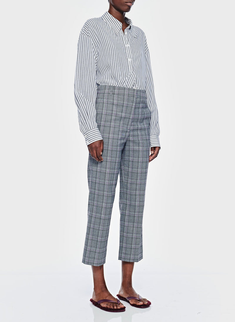 James Menswear Check Taylor Pant Black/Lavender Multi-2