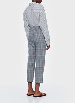 James Menswear Check Taylor Pant Black/Lavender Multi-3