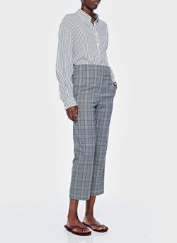 James Menswear Check Taylor Pant Black/Lavender Multi-4