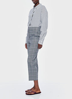 James Menswear Check Taylor Pant Black/Lavender Multi-5