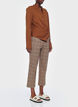 James Menswear Check Taylor Pant Brown/Black Multi-10
