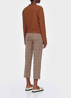 James Menswear Check Taylor Pant Brown/Black Multi-11