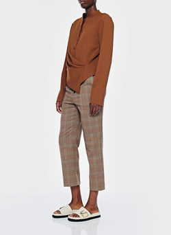 James Menswear Check Taylor Pant Brown/Black Multi-12
