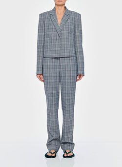 James Menswear Check Sebastian Pant Black/Lavender Multi-6