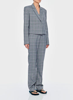 James Menswear Check Sebastian Pant Black/Lavender Multi-7
