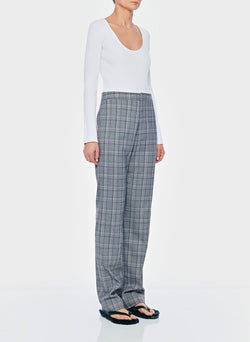 James Menswear Check Sebastian Pant Black/Lavender Multi-10