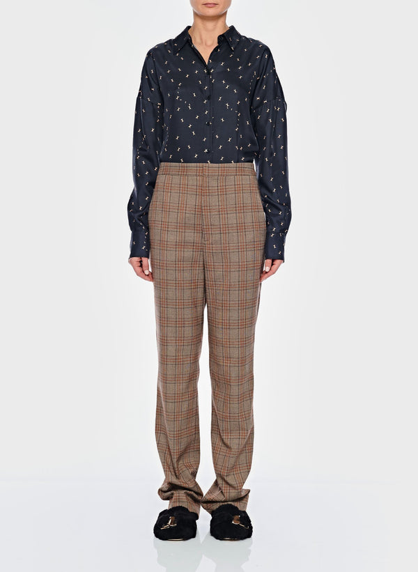 티비 바지 Tibi James Menswear Check Sebastian Pant