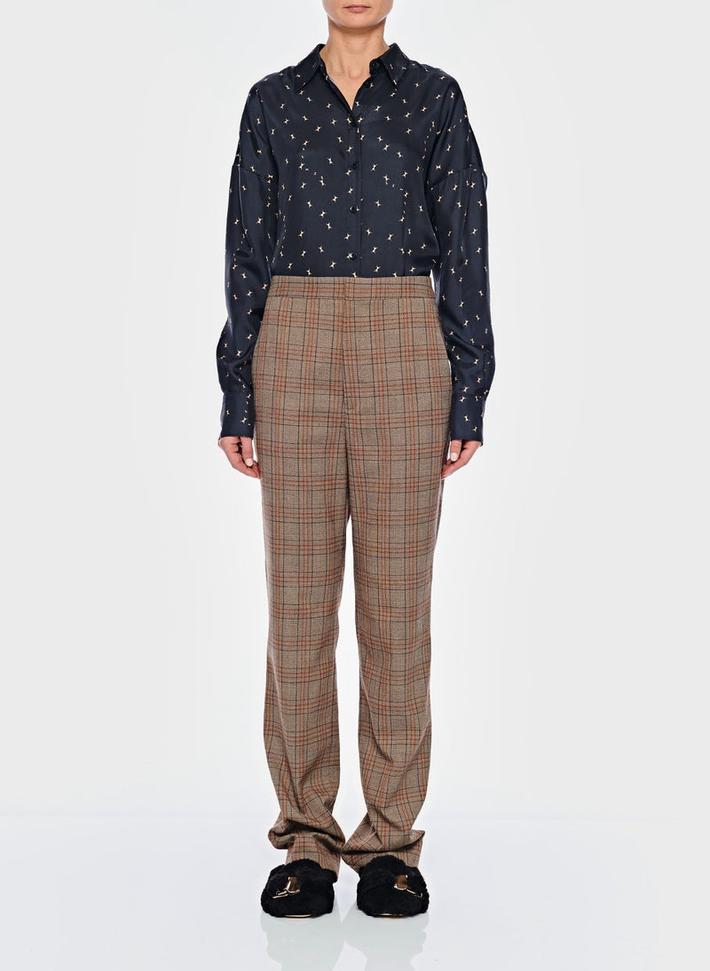 James Menswear Check Sebastian Pant Brown/Black Multi-1
