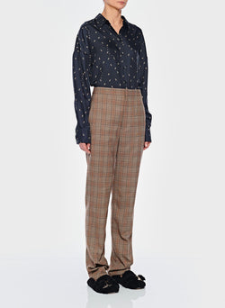 James Menswear Check Sebastian Pant Brown/Black Multi-2