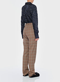 James Menswear Check Sebastian Pant Brown/Black Multi-3