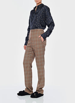 James Menswear Check Sebastian Pant Brown/Black Multi-4