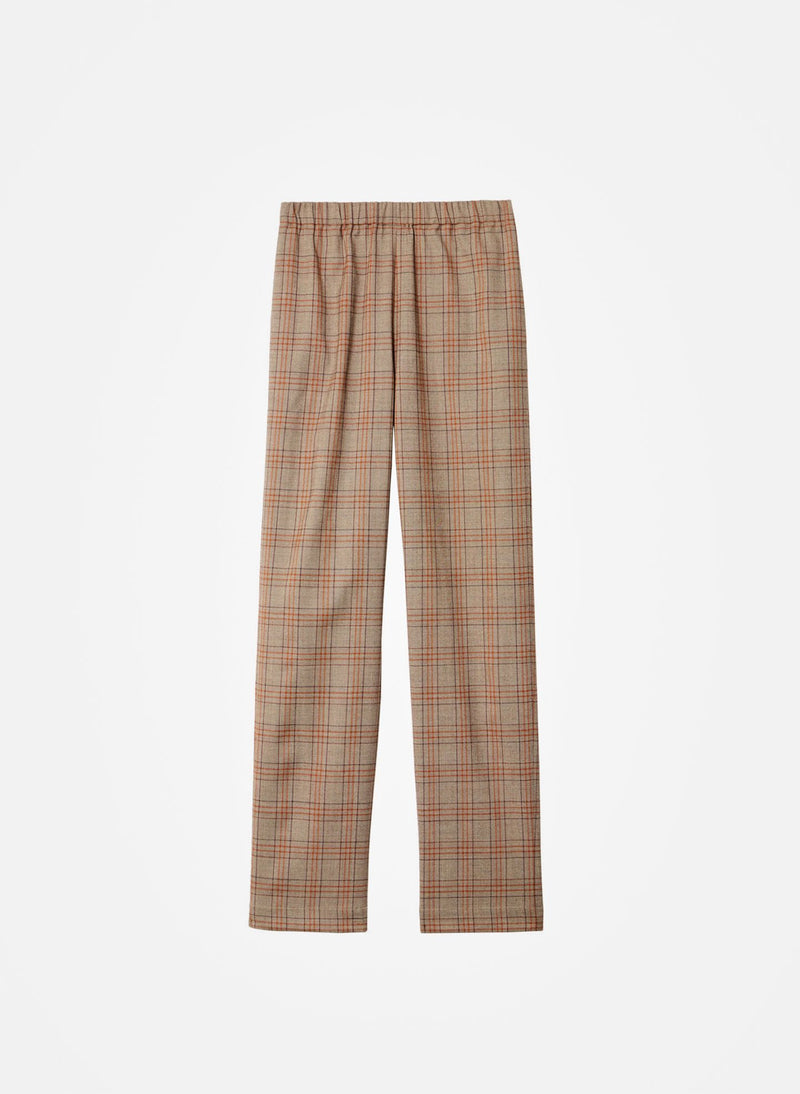 James Menswear Check Sebastian Pant Brown/Black Multi-5