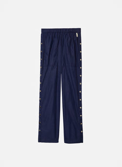 Nylon Pull On Snap Pant Navy-8