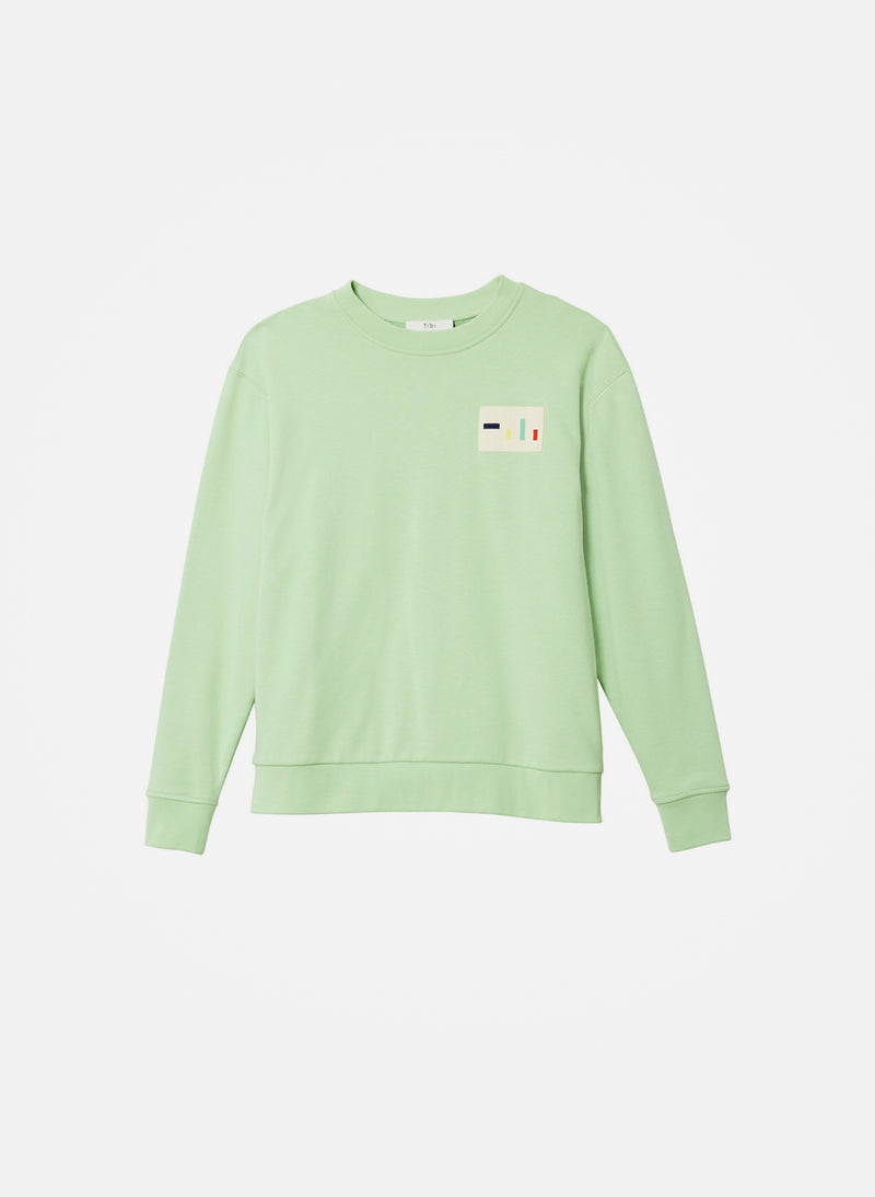 Lightweight Sweatshirt Pullover Mint-8
