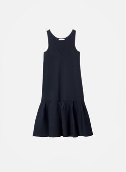 Tech Poly Sculpted Sweater Dress Dark Navy-5